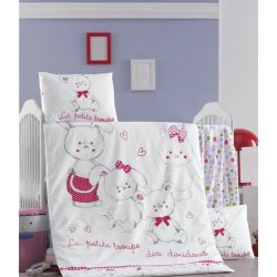 Детское постельное бельё в кроватку для новорожденных Victoria Family ранфорс