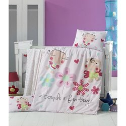 Детское постельное бельё в кроватку для новорожденных Victoria Honey bee ранфорс