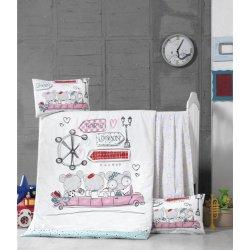 Детское постельное бельё в кроватку для новорожденных Victoria Journey ранфорс