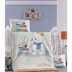 Детское постельное бельё в кроватку для новорожденных Victoria Kis Masali ранфорс