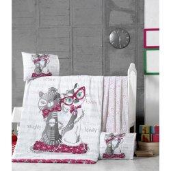 Детское постельное бельё в кроватку для новорожденных Victoria Kittens ранфорс