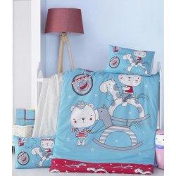 Детское постельное бельё в кроватку для новорожденных Victoria Lets ранфорс