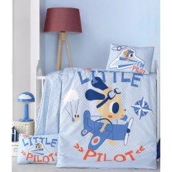 Детское постельное бельё в кроватку для новорожденных Victoria Little pilot ранфорс