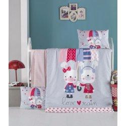 Детское постельное бельё в кроватку для новорожденных Victoria Love Rain ранфорс