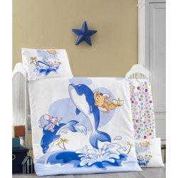 Детское постельное бельё в кроватку для новорожденных Victoria Ocean ранфорс