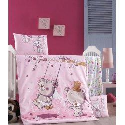 Детское постельное бельё в кроватку для новорожденных Victoria Pink dream ранфорс