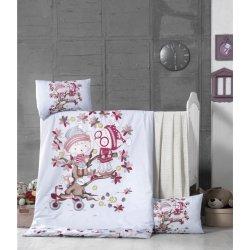 Детское постельное бельё в кроватку для новорожденных Victoria Play time ранфорс