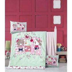 Детское постельное бельё в кроватку для новорожденных Victoria Sleepy ранфорс