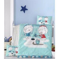 Детское постельное бельё в кроватку для новорожденных Victoria South poie ранфорс