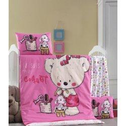 Детское постельное бельё в кроватку для новорожденных Victoria Sweet ранфорс