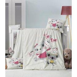 Детское постельное бельё в кроватку для новорожденных Victoria Tea time ранфорс