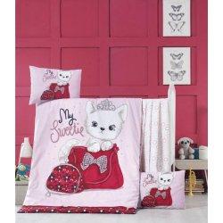 Детское постельное бельё в кроватку для новорожденных Victoria Tiny cat ранфорс