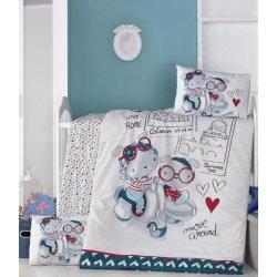 Детское постельное бельё в кроватку для новорожденных Victoria Travel bars ранфорс