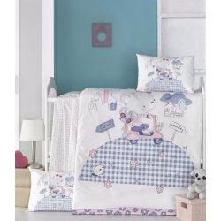 Детское постельное бельё в кроватку для новорожденных Victoria Trip ранфорс