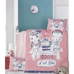 Детское постельное бельё в кроватку для новорожденных Victoria Two girls ранфорс