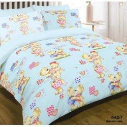 Детское постельное белье Вилюта 4457 Влюбленные мишки голубые