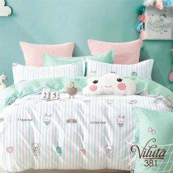 Детское постельное белье Viluta 381 в кроватку сатин