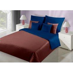 Постельное белье Премиум Сатин Двухсторонний коричнево-синее