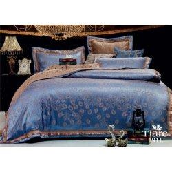 Постельное белье Вилюта сатин-жаккард евро Tiare 1911 синее
