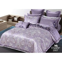 Постельное белье Вилюта сатин-жаккард Tiare 2007 евро фиолетовое