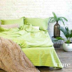 Постельное белье Viluta Satin Stripe Tiare 69 зеленое