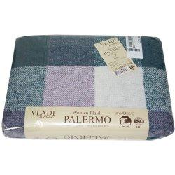 Плед Vladi Palermo Клетка лилово-изумрудный
