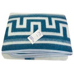 Одеяло жаккардовое Vladi Греция синий