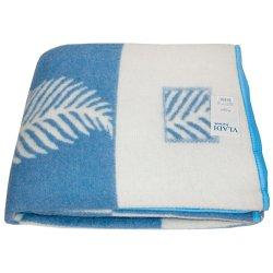 Одеяло жаккардовое Vladi Лист голубое