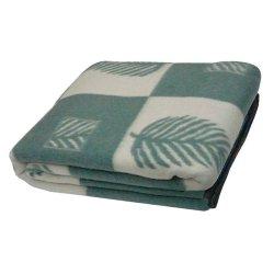 Одеяло жаккардовое Vladi Лист олива