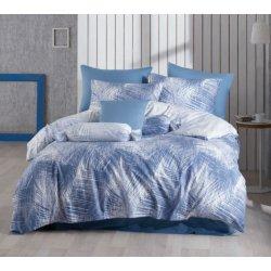 Постельное бельё Zugo Home ранфорс Havai V1 голубое евро