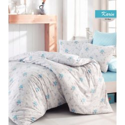 Постельное бельё Zugo Home ранфорс Karin V5 blue евро
