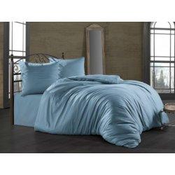 Постельное бельё Zugo Home сатин однотонный Mavi евро голубой