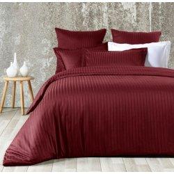 Элитное постельное бельё Zugo Home страйп-сатин Exclusive bordo евро