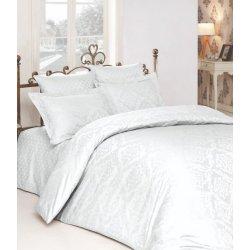 Белое постельное бельё Zugo Home жаккард Ottoman beyaz евро