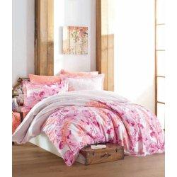 Комплект постельного белья Zugo Home сатин Roma V1 Pink евро
