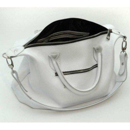 94cc78d75600 Кожаная женская сумка модель 20 Белый флотар - большую сумку-тоут ...